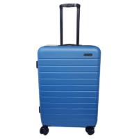 Caseman กระเป๋าเดินทาง ขนาด 24 นิ้ว พร้อมตัวซิปล็อคระบบ TSA วัสดุพีพี (Polypropylene) สีฟ้า