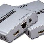 HDMI V2.0 60M Extender cascade connection HDMI Extender 4K 60Hz via Cat5E/6 Ethernet Cable HDMI Transmitter Receiver with IR